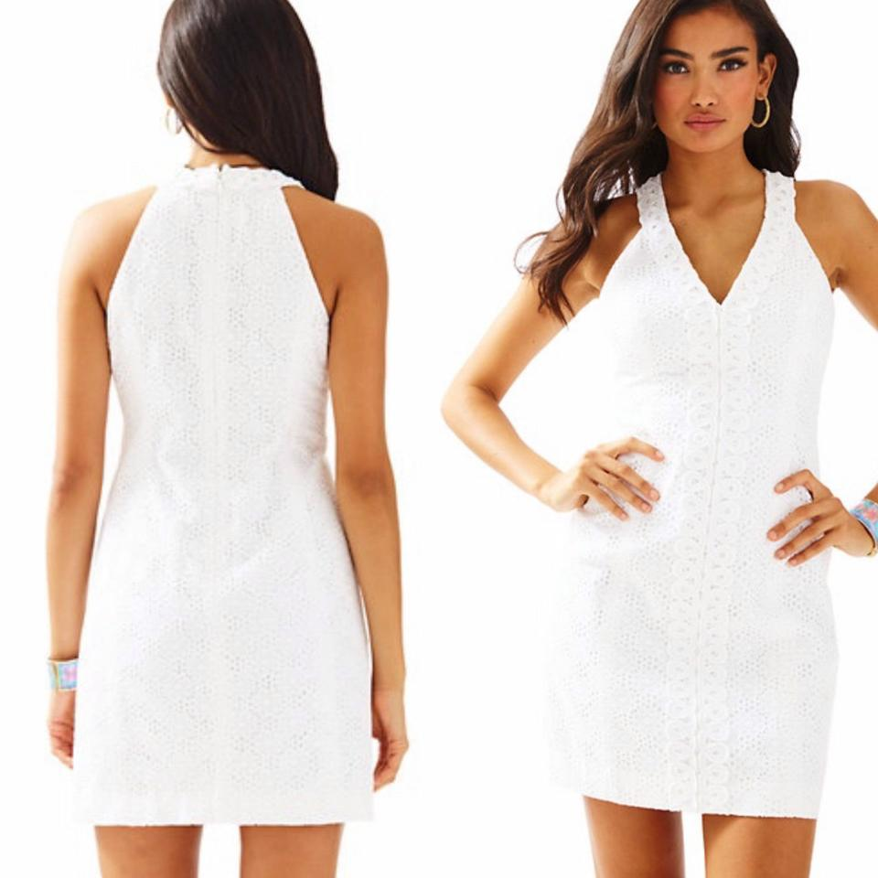 Lilly Pulitzer Resort White Pop The Bubbly Eyelet Lynn Shift 23555 ...