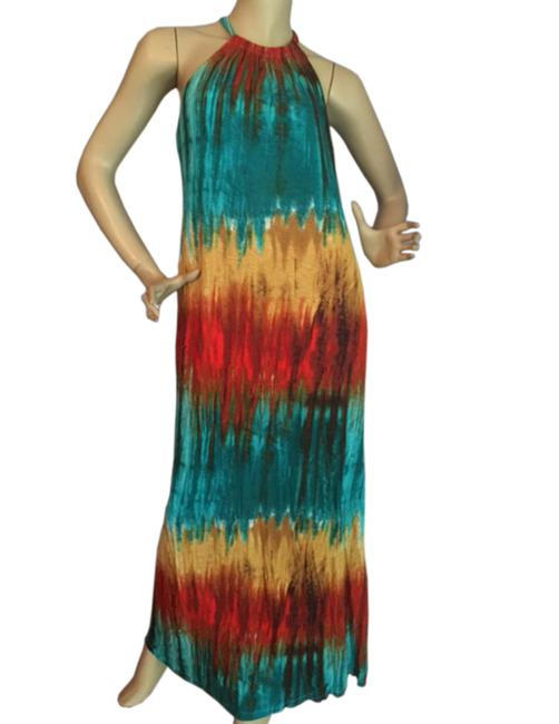 MultiColor Maxi Dress by S/P Halter Long