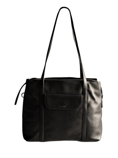 Preload https://item2.tradesy.com/images/dkny-donna-karan-soft-medium-black-leather-shoulder-bag-21550556-0-1.jpg?width=440&height=440