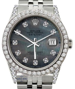 Rolex 5CT 36MM ROLEX MEN'S DATEJUST WATCH WITH ROLEX BOX & APPRAISAL
