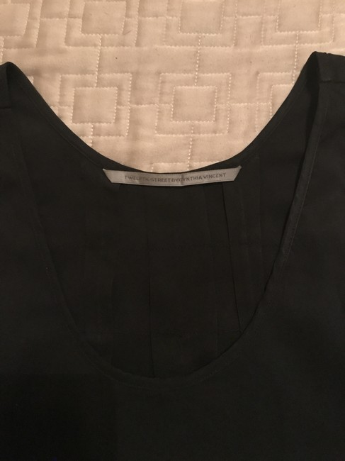 Twelfth St. by Cynthia Vincent Silk Racer-back Top Black