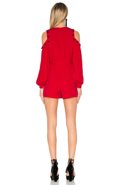 Alexis Cold-shoulder Cut-out Christmas Dress