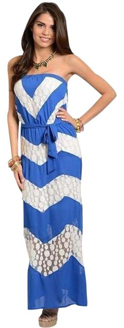 Preload https://item5.tradesy.com/images/multicolor-women-s-strapless-chevron-lace-long-casual-maxi-dress-size-12-l-21550714-0-1.jpg?width=400&height=650