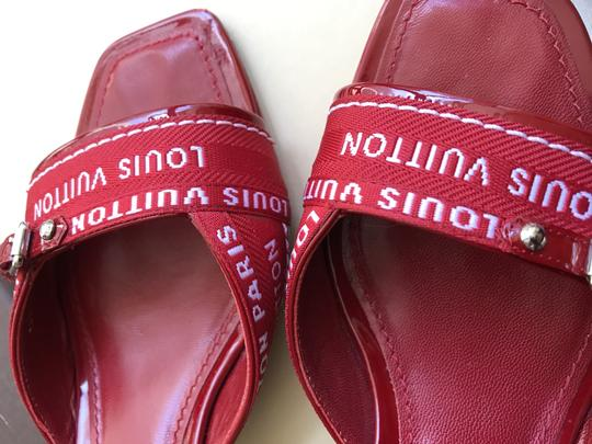 Louis Vuitton red Mules