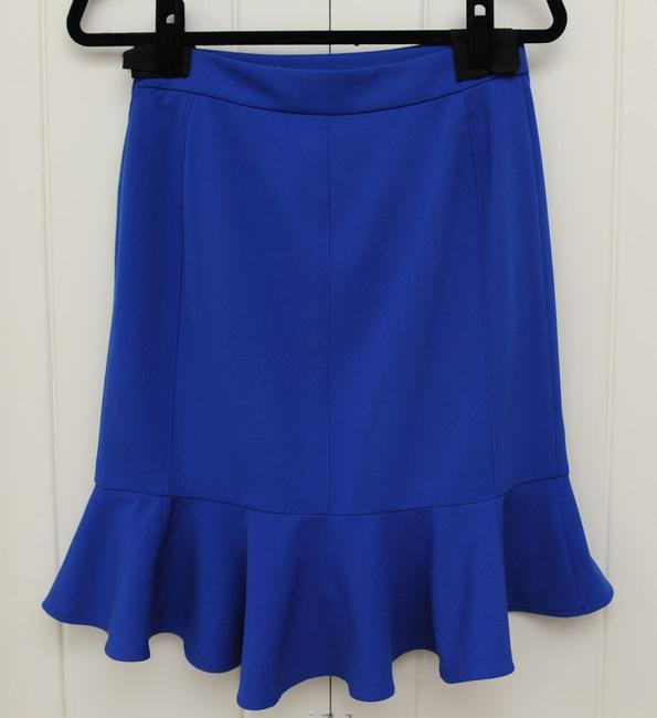 Anthropologie High-waisted Chic Skirt Royal Blue