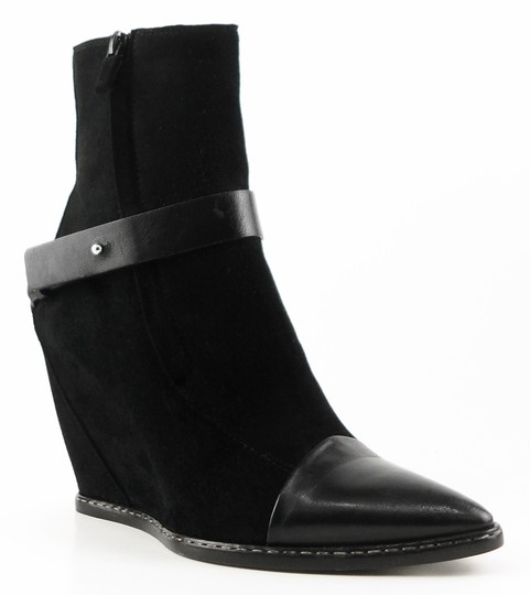 CoSTUME NATIONAL Pointed Toe Ankle Designer Suede European Black Boots