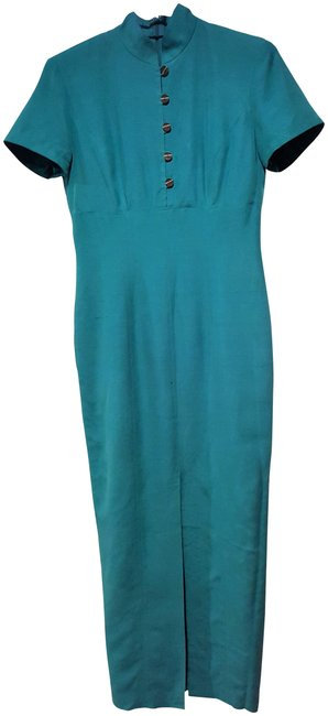 Preload https://item3.tradesy.com/images/dana-buchman-green-silk-from-the-quality-line-of-1990-s-long-night-out-dress-size-2-xs-21550922-0-3.jpg?width=400&height=650