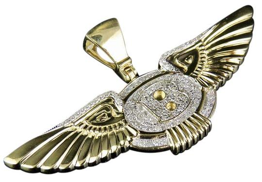 Preload https://img-static.tradesy.com/item/21550956/10k-yellow-gold-mens-genuine-diamond-bentley-flying-b-logo-pendant-charm-0-1-540-540.jpg