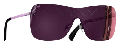 Chanel Burgundy Shield Quilted Sunglasses Tradesy