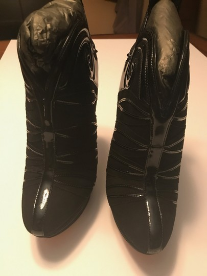 Brian Atwood Suede Platform Black Boots