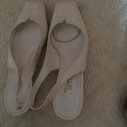 jRenee' white Wedges