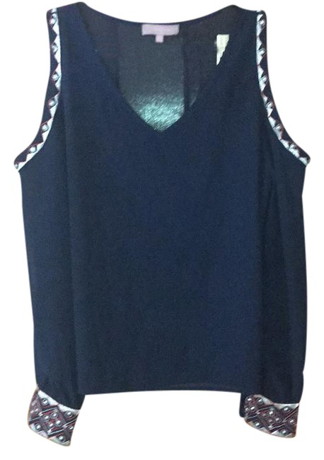 Preload https://img-static.tradesy.com/item/21551023/navy-shoulder-cut-out-blouse-size-4-s-0-1-650-650.jpg