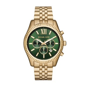 ce68eee82182 Michael Kors Michael Kors MK8446 Men s Lexington Chronograph Green Dial  Watch New