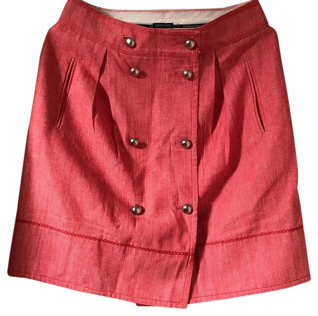 Preload https://img-static.tradesy.com/item/21551121/magaschoni-red-with-silver-knee-length-skirt-size-4-s-27-0-1-650-650.jpg