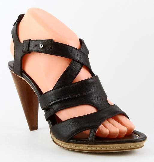 CoSTUME NATIONAL Open Toe Leather European T. Moro Brown Sandals