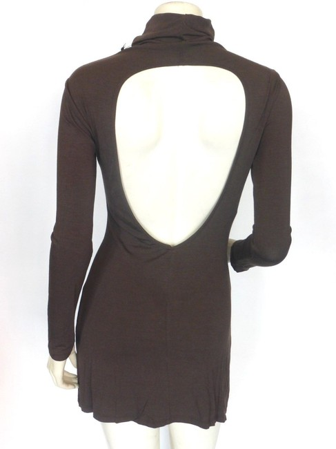 Cyberg short dress Brown on Tradesy