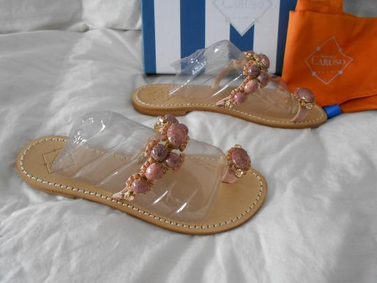 Emanuela Caruso Lovely Design Color Made In Italy Pink Sandals