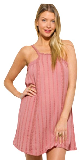 Preload https://item2.tradesy.com/images/pink-so-pretty-dusty-rose-shift-short-casual-dress-size-12-l-21551486-0-3.jpg?width=400&height=650