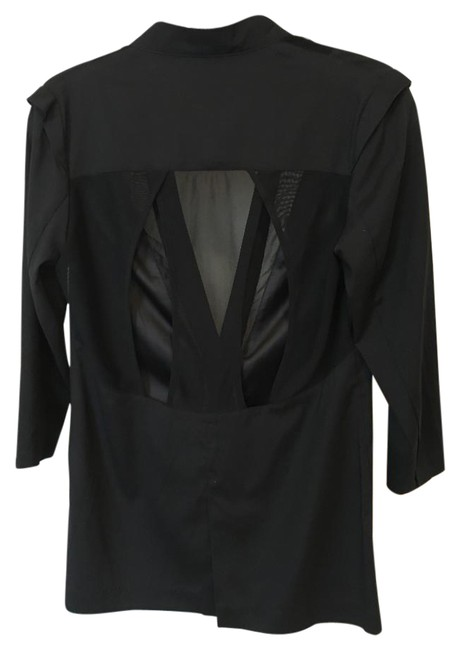 Factory by Erik Hart Sheer Cut-out Light-weight black Blazer