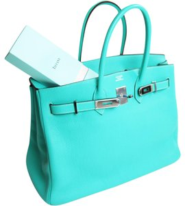 Hermès Birkin Luxury Birkin Summer Satchel in Lagoon