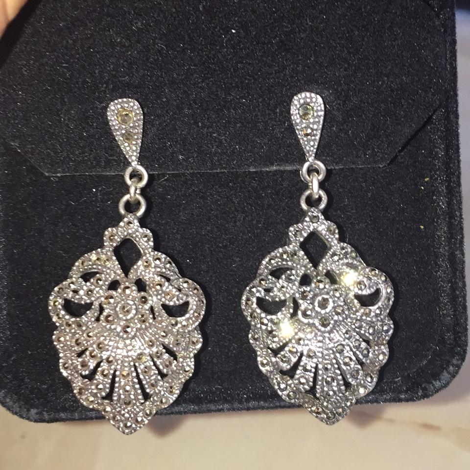 Silver Marcasite Chandelier Earrings