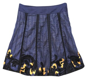 Anthropologie High-waisted Chic Skirt Navy Blue