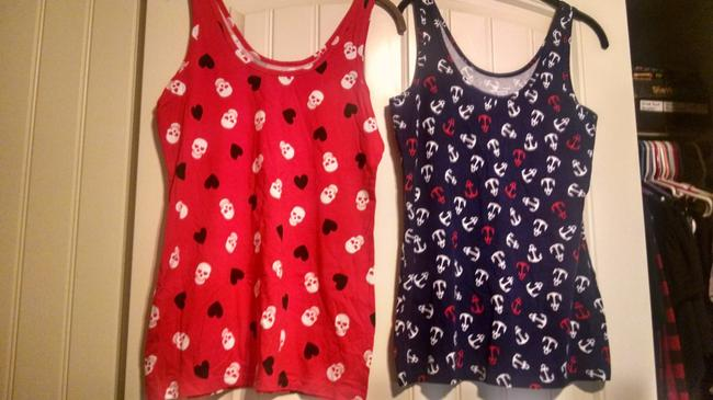 No Boundaries Top Red and Navy Blue