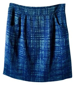 Pendleton Pencil Cotton Skirt blue and green