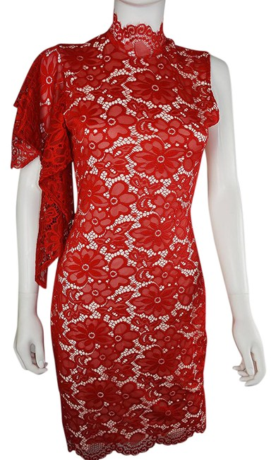 Preload https://img-static.tradesy.com/item/21551788/lisa-nieves-red-lace-stretch-mid-length-cocktail-dress-size-6-s-0-1-650-650.jpg