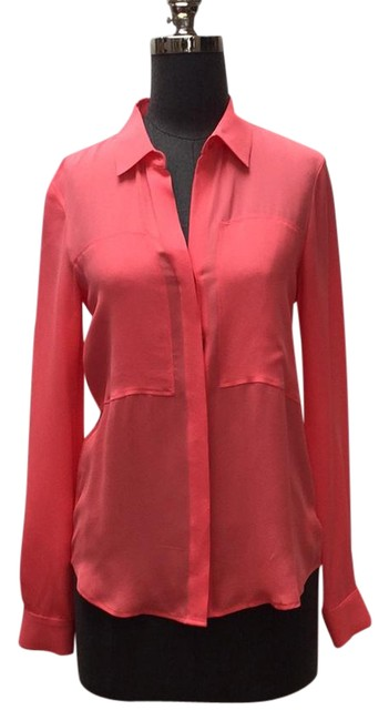 Preload https://item3.tradesy.com/images/theory-neon-coral-long-sleeve-button-down-top-size-petite-2-xs-21551827-0-1.jpg?width=400&height=650