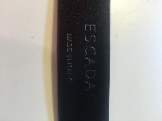 Escada Escape Shiny Black Leather Belt