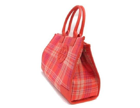 Tory Burch Magnetic Closure Large Tote in Poppy Coral