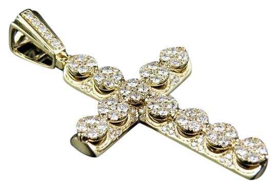 Preload https://item5.tradesy.com/images/10k-yellow-gold-men-s-real-diamond-3d-cluster-cross-pendant-charm-21551939-0-1.jpg?width=440&height=440