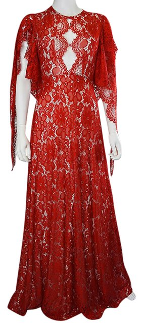 Preload https://img-static.tradesy.com/item/21551943/lisa-nieves-red-lace-gown-long-formal-dress-size-8-m-0-1-650-650.jpg