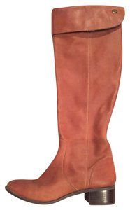 Seychelles Leather Riding Over-the-knee Zipper Tan/Luggage Boots