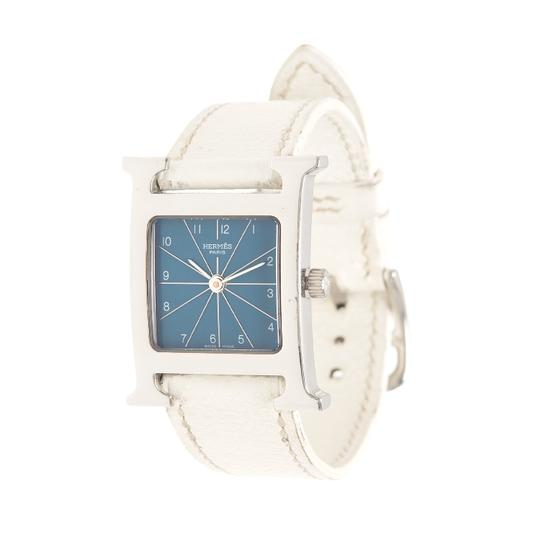 Preload https://item4.tradesy.com/images/hermes-white-calfskin-leather-h-hour-pm-watch-21551993-0-0.jpg?width=440&height=440