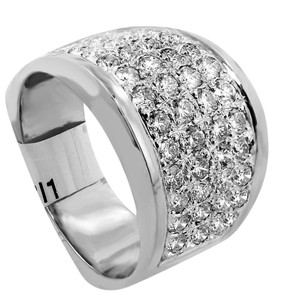 ABC Jewelry Diamond fashion band 1.60tcw h color si1 clarity 14k white gold