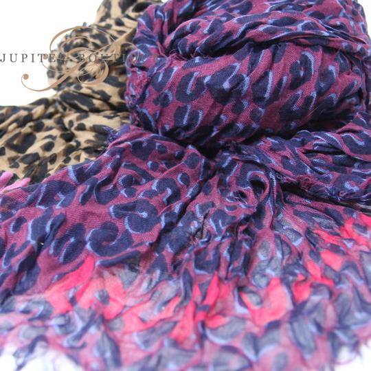 Louis Vuitton Louis Vuitton Silk & Cashmere Leopard Shawl /Stole - Purple