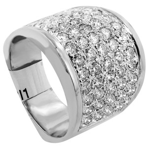ABC Jewelry Diamond fashion band 2.05tcw h color si1 clarity 14k white gold