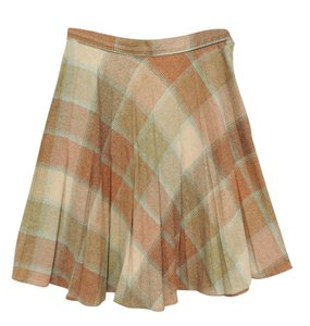 Other Wool Black A Line Skirt browns and cream tones