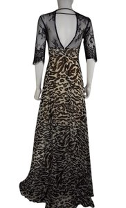 Black Maxi Dress by Lisa Nieves Animal Print Formal Maxi Lace Prom