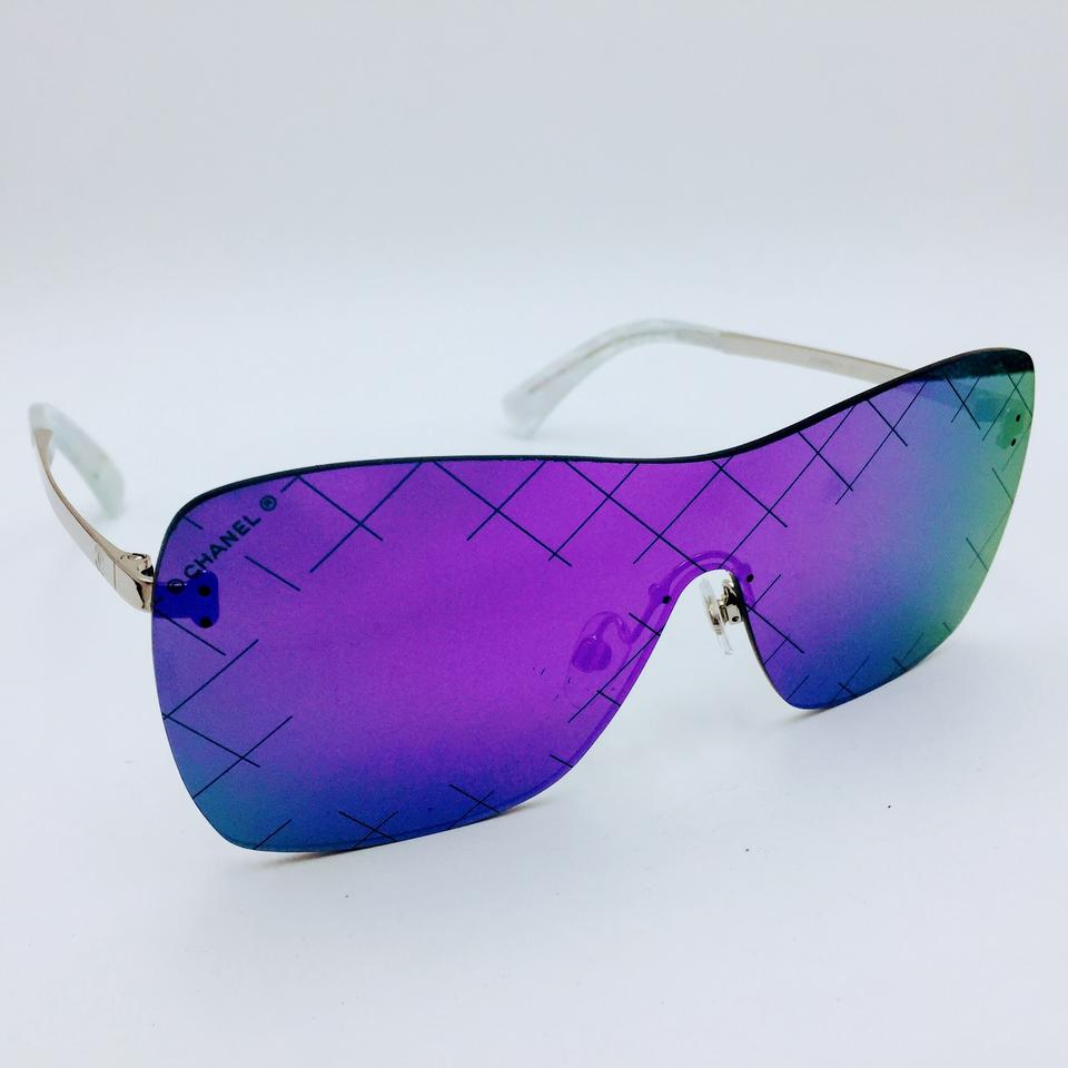 669b25735d7 Chanel Purple Airline Runway Crosshatch Shield 4215 C.124 4v Sunglasses
