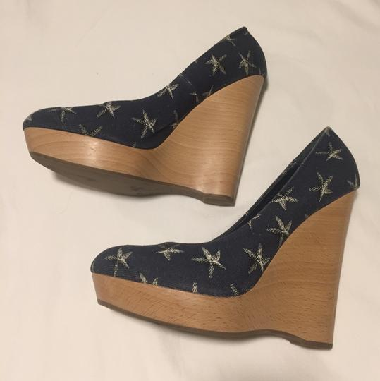 Saint Laurent Blue with white stars Wedges
