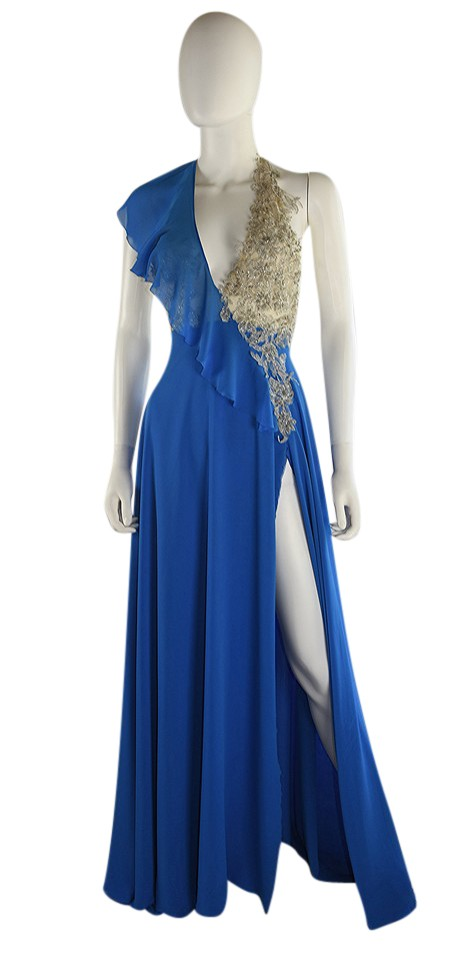 Lisa Nieves Royal Blue Silver and Evening Gown Long Formal Dress ...