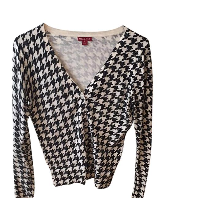 Preload https://item2.tradesy.com/images/merona-black-and-white-cardigan-size-6-s-21552246-0-1.jpg?width=400&height=650