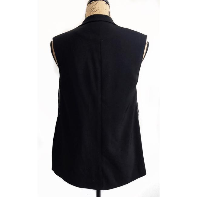 C/meo Collective Button Down Sheer Sleeveless Tuxedo Vest