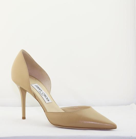 ef96609a24a Jimmy Choo Nude Addison 80 Leather D orsay Pumps Size EU 38 (Approx ...