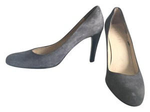 Ralph Lauren Classic Kitten Grey Suede Pumps