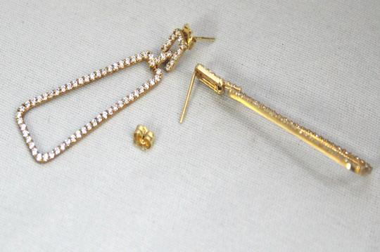 Other 14 K Yellow Gold (CZ) Screw Back Post Earring