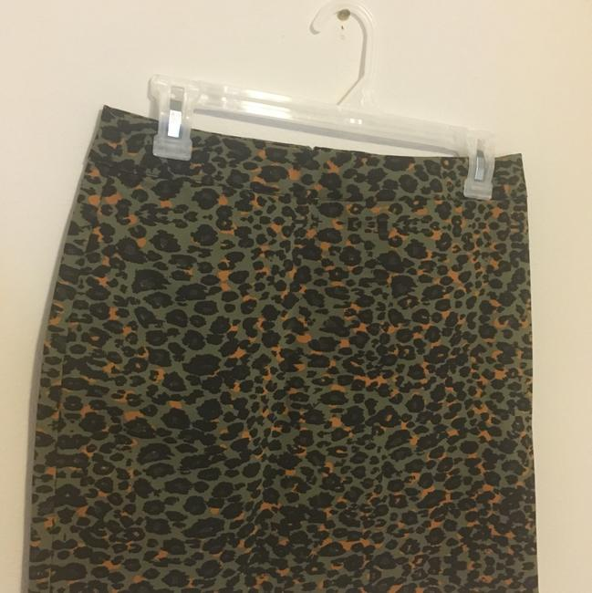 H&M Mini Skirt green, rust, black